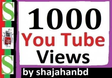 Instant 1000+ YT Views Non Drop To Your Video