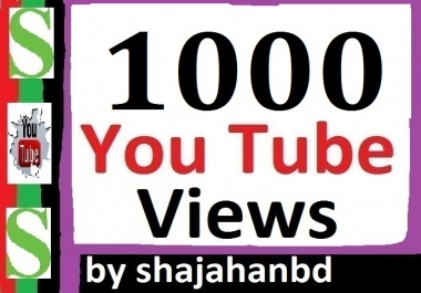 Instant 1000+ YouTube Views and 50+ Extra Bonus Likes To Your Video