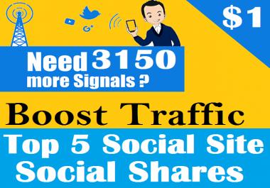 Top 5 Social Platform 3150 PR9 Social Signals Important SEO Ranking Factors