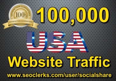 100,000 Keyword Targeted USA Website Traffic By Social Media SEO