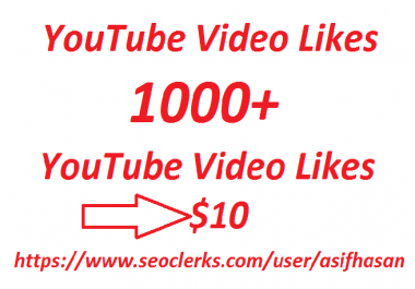 Get high-quality 1000  YouTube video likes only