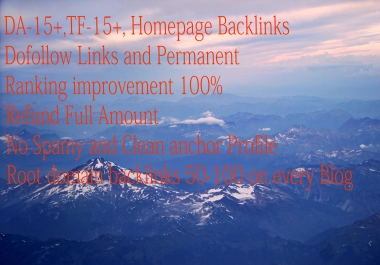 DONE FOR YOU- PERMANENT HOMEPAGE BACKLINKS