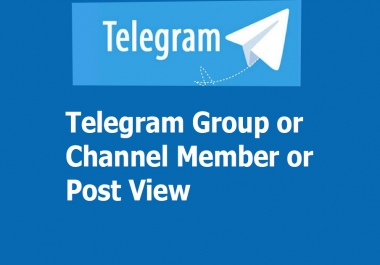 Non Drop real active 550+ Telegram Channel Member or 500+ Post Views