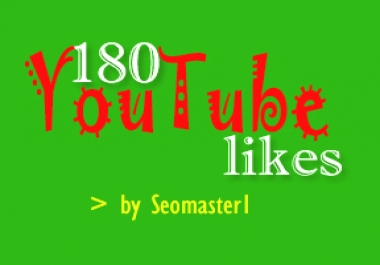 Provide 180 Real and Genuine YouTube video likes