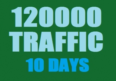 Get Real 120000 Web Traffic in 10 Days
