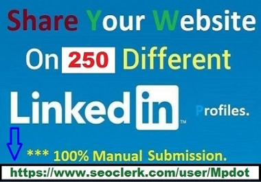 Get You Fast 250 Linkedin Website Share {PR9 Signals} Within 3-4 Hours