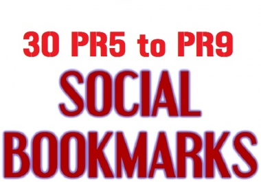 Provide 30 Manual social Bookmarks from High PR sites