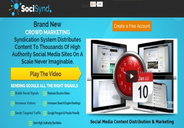 I will set up socisynd for your web or personal