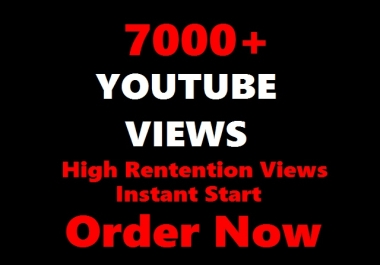 2500 YOUTUBE Views to your Videos