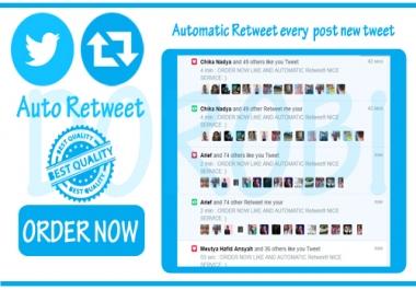 add automatic Twitter Retweet