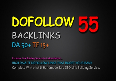 Permanent 50 Authority Dofollow Backlinks