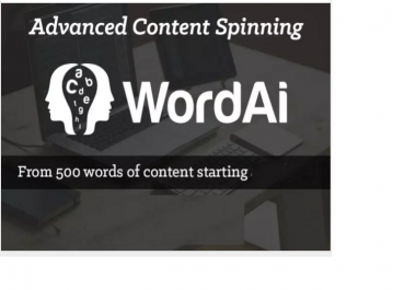 spin your content using The Turing Spinner in WordAI