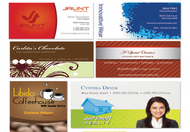 I will design a beautiful business card