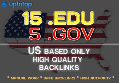I will make manually 15 edu and 3 gov US Based seo backlinks