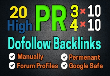 I will build 20 High PR Dofollow Google Ranking Seo Backlinks