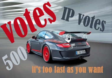 I will provide you 500 different ip votes