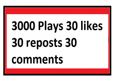 Best Real Manual Music Promotion 3000 Plays 30 likes 30 reposts 30 comments