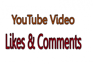 50+ Real YouTube likes and 5 Custom Comments