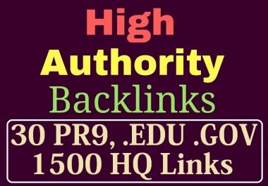 manually do 30 PR9, EDU/GOV and 1500 Safe SEO Backlinks 2018 Best Results