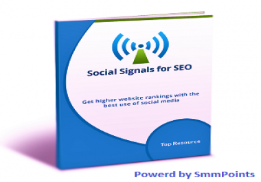Get 1620+ High PR Most Powerfull Social Signals Panda & Penguin safe