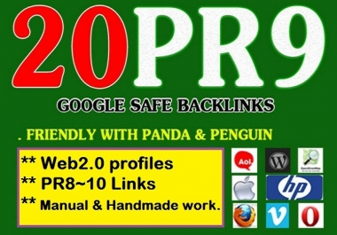Buy 20 PR9 Handmade back-Link for your site or Youtube