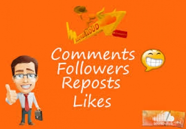 I will give you 100 soundcloud likes and 100 repost and 100 comment only