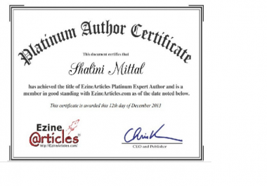 write Top Quality Ezine article