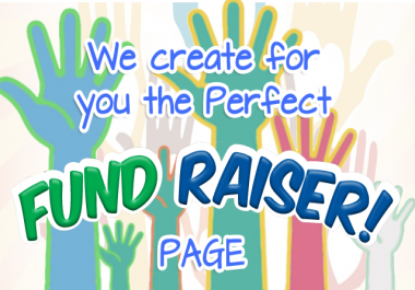 create you a perfect fundraiser page