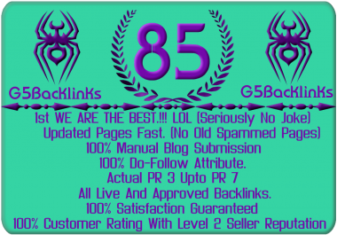 85 Do Follow Blog Comments Pr3 up to Pr7