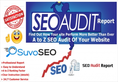 High Quality Website AUDIT Report  AND Google SEO ranking factors of your website,