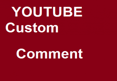 250 YouTube custom commen ts 1-24 hours complete  very fast