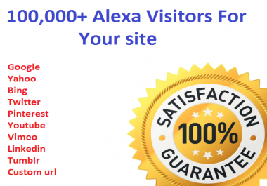100,000+ Alexa Visitors For Your site