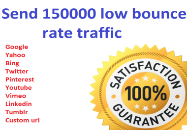Send 150000+ low bounce rate worldwide traffic from social media