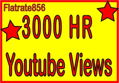 Give 3,000 Safe High Retention Youtube Views