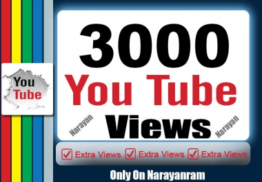 3000  High Quality YouTube Views Fully safe instant Start