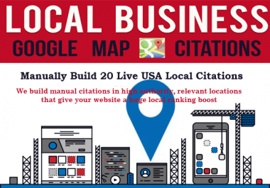 I will create 20 USA Local Seo Citations To Rank Higher On Google Maps