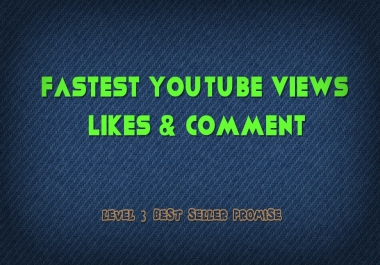 FAST 10000+ YOUTUBE VIEWS & 200 LIKES & 20 COMMENTS