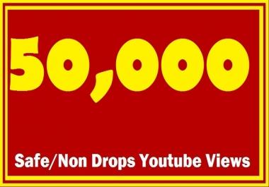 50000+ 50K+ Safe/Non Drops YTube Views