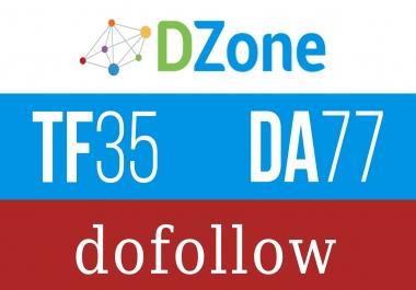 Write and publish a guest post on Dzone.com - DA77, TF35