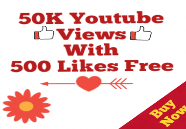 Safe 50k Youtube Vie w's 05 Lik-es Free  No Drop Youtube Vie ws