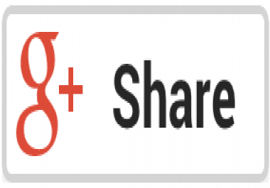 You will get 100+ G+ Share  from different IP only