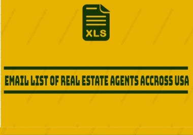 Email List of Real Estate Agents Across the US