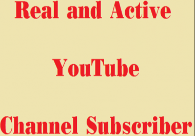 Safe & Fast 1000+ Real and Active You tube subscribers