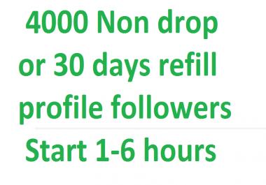 Instant  4000+ Social profile followers via real user