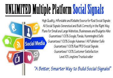 1000+ Multi Platform Social Signals to Boost and Improve Rankings With