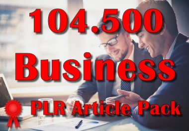 104500 BUSINESS Plr Article Collection Pack