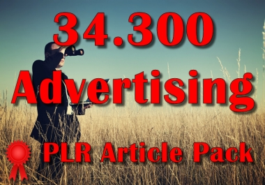 34300 ADVERTISING Plr Article Collection Pack