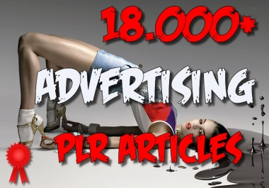 18000 ADVERTISING Plr Article Collection Pack