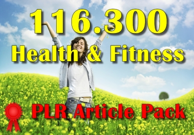 116300 Health and Fitness Plr Article Collection Pack