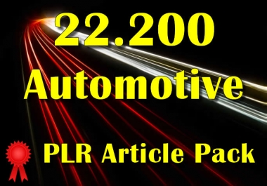 22200 AUTOMOTIVE Plr Article Collection Pack